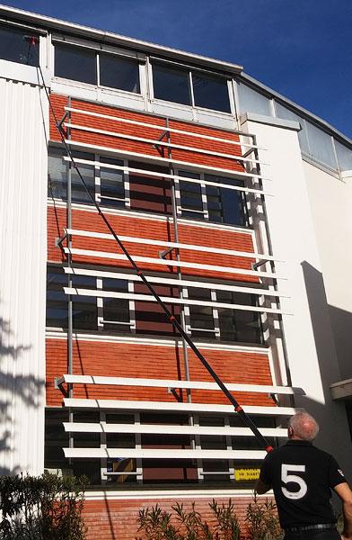 Nettoyage vitres grandes hauteurs et accès difficiles